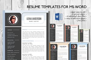 Modern photo Word resume
