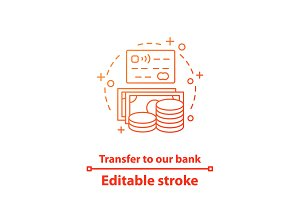 Money transfer concept icon