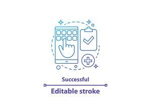 Successful operation concept icon