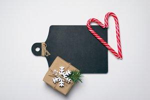Black Wooden Board, Christmas Presen