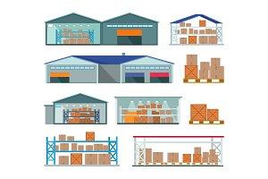 Set of Warehouses for Goods Storing