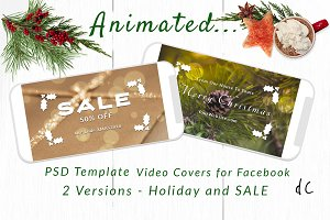 Animated Bokeh Video Cover Template