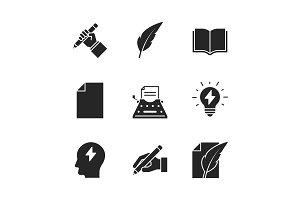 Copywriting black icons