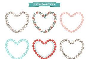 Heart floral frames