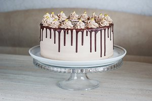 Chocolate Cake with Fudge Drizzled