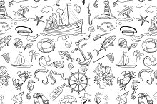 Nautical or marine themed pattern