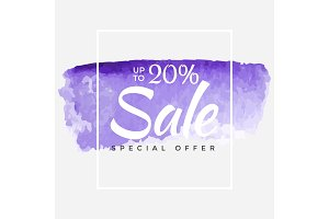 Sale final up to 20% off sign over