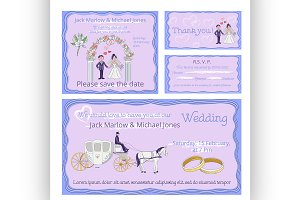 Wedding invitation, thank you card