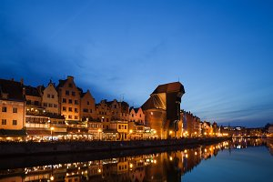 Old City of Gdansk at Twilight