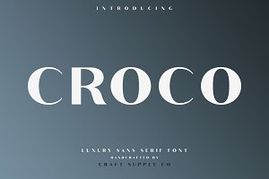 Croco - Luxury Sans Serif Font