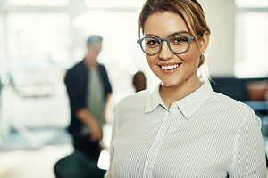 Young businesswoman smiling confiden