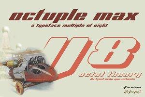 Octuple max -2 fonts-