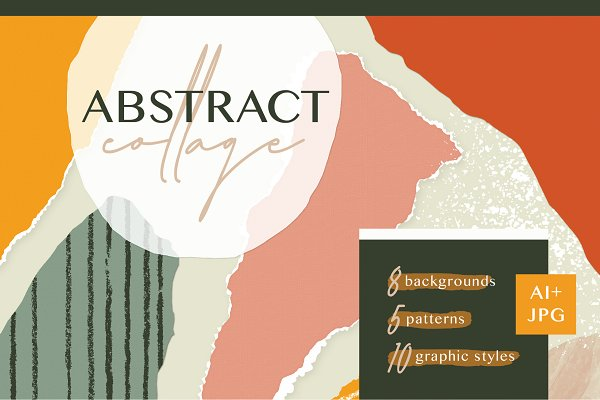Graphics: Anugraha Design - Abstract Collage Patterns + Styles