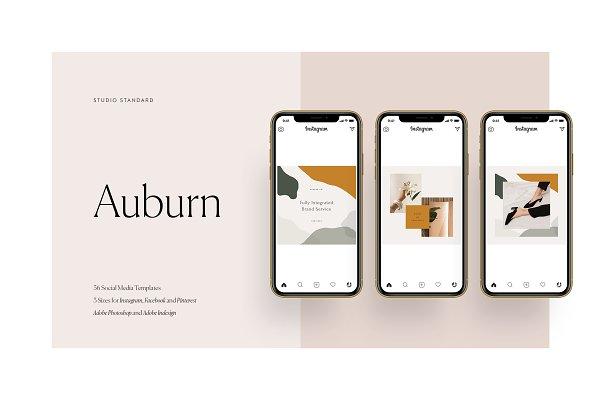 Social Media Templates: Studio Standard - Auburn Social Media Pack