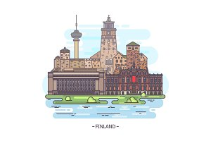 Famous Finland landmarks