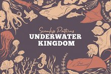 Underwater Kingdom Vector Patterns by  in Patterns