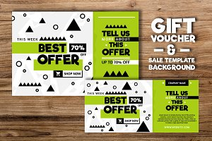 Gift voucher and Sale Backgound