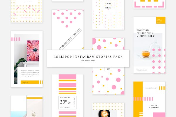 Templates: Swiss_cube - Lollipop Instagram Stories Pack