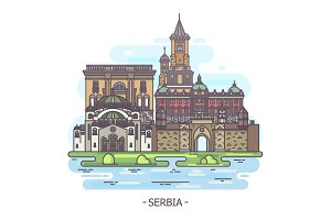Serbia architecture monuments