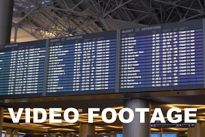 Digital flight schedule the airport