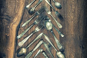 Christmas tree decoration cutlery
