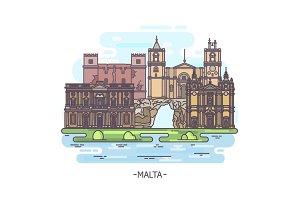 Landmarks of Malta
