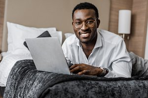 happy african american businessman i