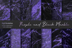 Purple and Black Marble Textures