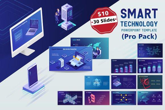 smart tech ppt template pro pack presentation templates