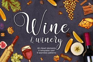 Wine&winery-clipart+bonus