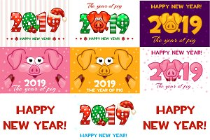 Happy 2019 New Year. Year of the pig
