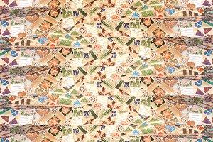 Stone Mosaic Collage Seamless Patter