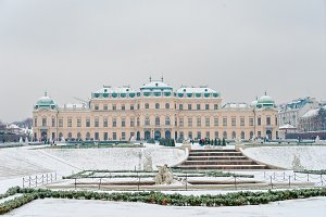 Belvedere palace at winter