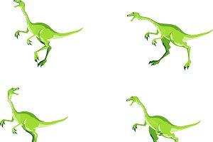 Vector Dinosaurs set
