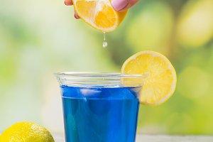 Thai blue anchan tea