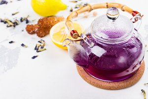 Thai blue butterfly pea tea