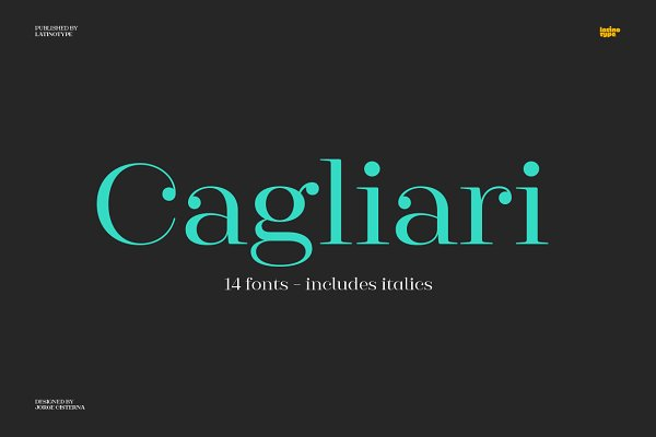 Fonts: Latinotype - Cagliari - Intro Offer 77% off