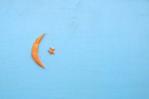 Crescent moon and star for Ramadan