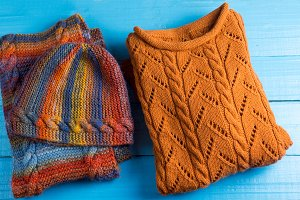 warm winter hat, scarf and sweater s