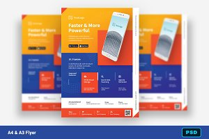 Mobile App Promotion Flyer + Insta