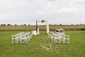 Beautiful wedding ceremony on a