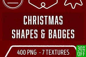 400 Christmas Shapes & Badges