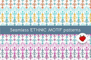 Ethnic motif. Seamless pattern