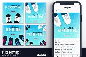 11 Ice Skating Social Media Banners