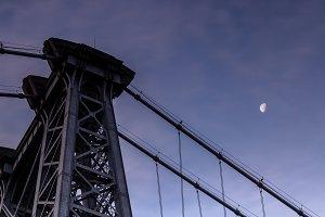 Williamsburg bridge with half moon