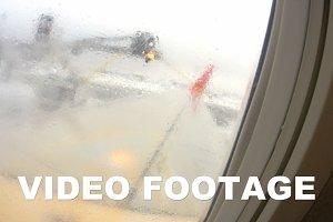 Machine spraying reagents the plane