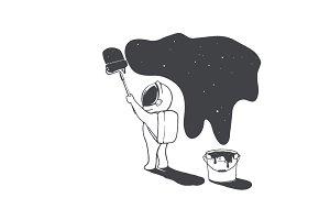 astronaut artist creates universe