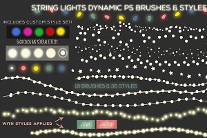 String Lights Brushes & Styles