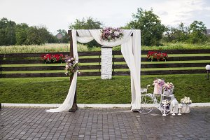 Wedding arch for wedding ceremony