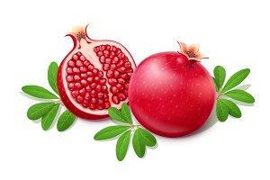 Ripe juicy pomegranate. Fruit